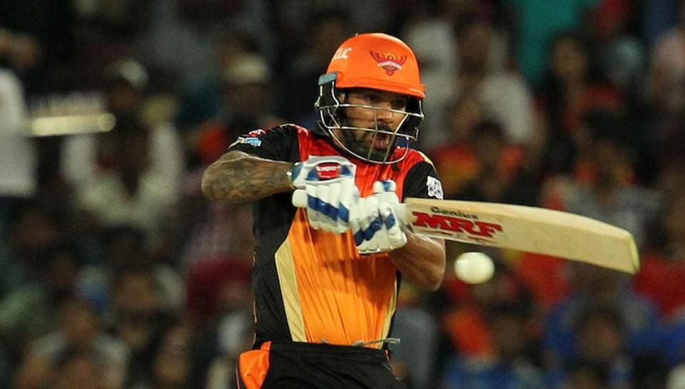 Shikhar Dhawan guided the Sunrisers Hyderabad to a comfortable seven-wicket win over Mumbai Indians in IPL 2017 at the Rajiv Gandhi International Stadium in Hyderabad on Monday. (BCCI)