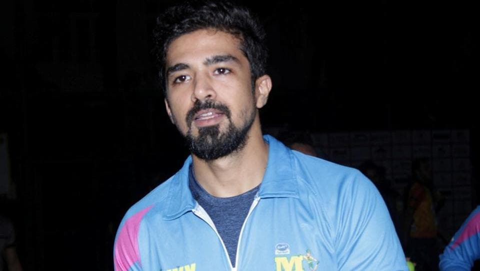 Saqib Saleem during the Tony Premiere League in Mumbai on March 7, 2017.