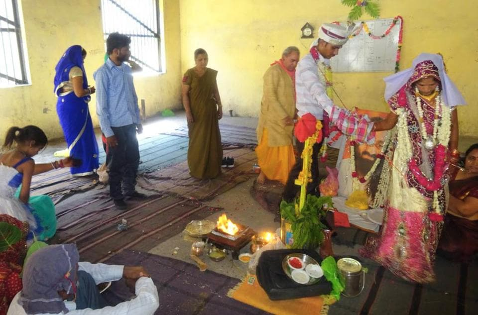 The wedding was solemnised inside the Kota Central Jail.