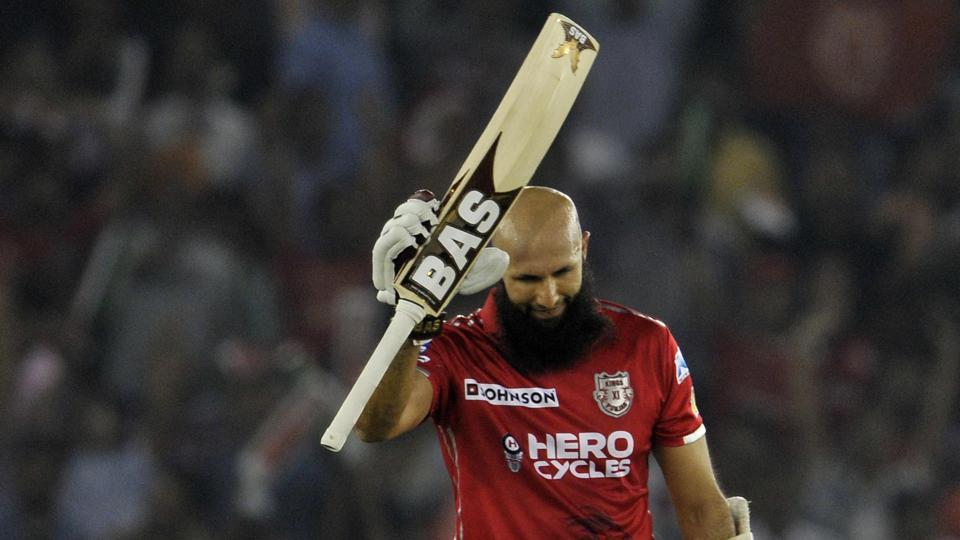 Hashim Amla scored his second century for Kings XI Punjab against Gujarat Lions in the 2017 Indian Premier League (IPL).