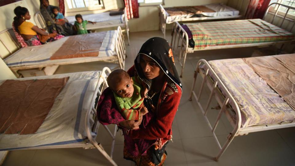 The 20-bed Nutritional Rehabilitation Centre (NRC) at Pohri set up to save the lives of children with Severe Acute Malnourished (SAM).