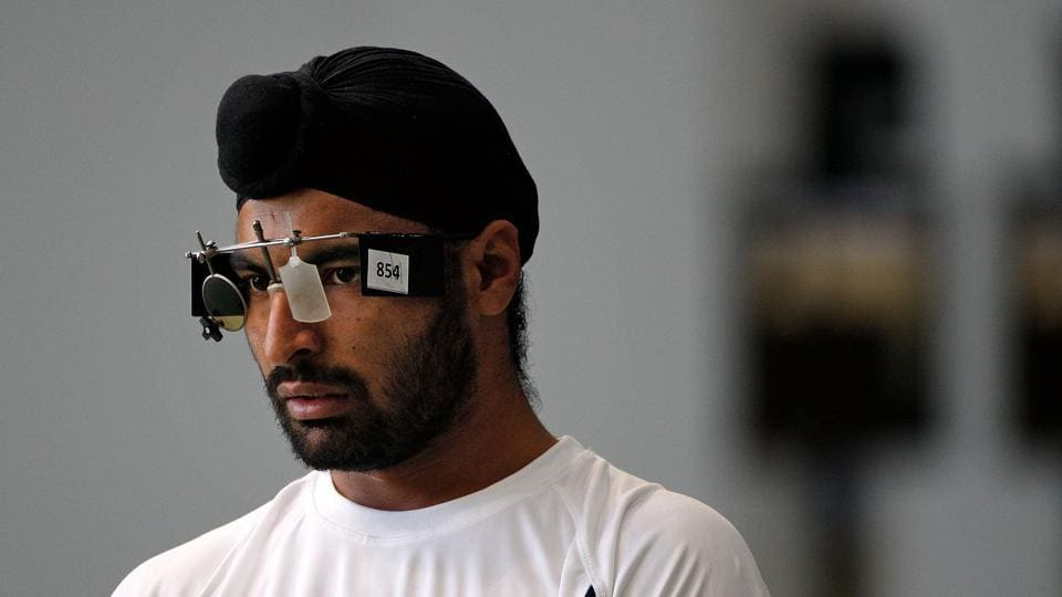 Gurpreet Singh, who won the team gold in 25m standard pistol at the Grand Prix of Liberation championships, was among the shooters who were left stranded at the Indira Gandhi International Airport .