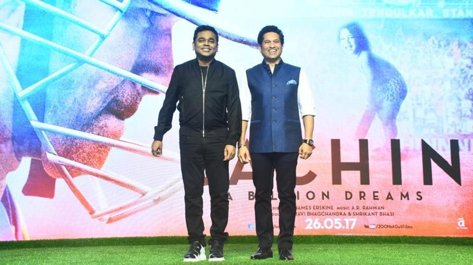 ARRahman has composed the music for SachinTendulkar's biographical film 'Sachin: A Billion Dreams'.
