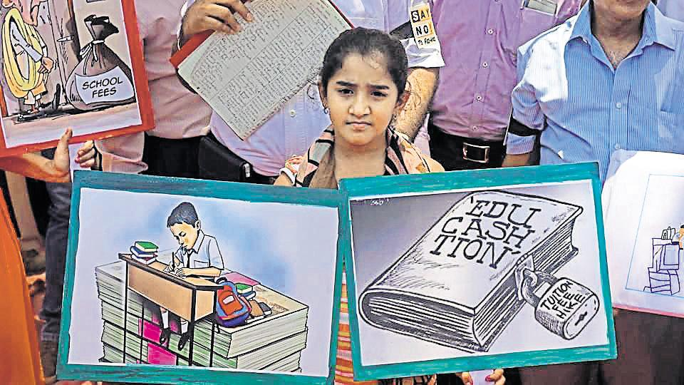 The commission is an appellate body set up to address complaints on violations of child rights and the Right to Education (RTE) Act, 2009. Some parents said that their children were facing discrimination in school because they protested against the fee hike.
