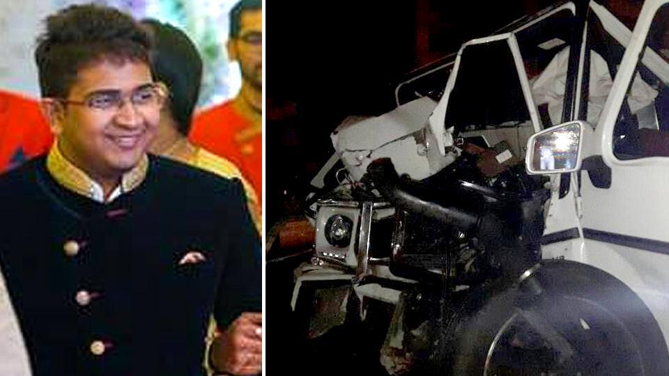 Andhra minister PNarayana's son Nishit (in picture) was killed when his car hit a metro rail pillar on a partially submerged road late at night.