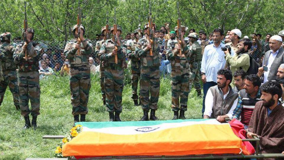 The killing of Lt Ummer Fayaz, a resident of Kulgam in south Kashmir, the hotbed of militancy, is the latest in a string of attacks on security forces in the border state where militants have stepped up the offensive as violent street protests rock the Valley.