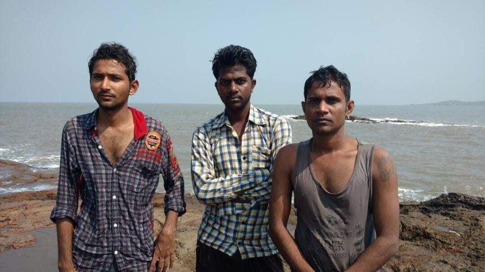 Three men saved from drowning
