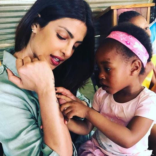 Priyanka Chopra in South Africa.