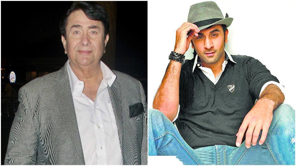 Randhir Kapoor,Ranbir Kapoor,Rishi Kapoor