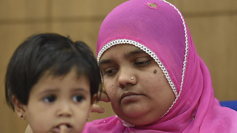 Bilkis Bano, one of the survivors of the Gujarat riot victims, addresses a press conference in New Delhi,  May 8. Bano was gang-raped and seven of her relatives, including her three-year old daughter, killed during religious riots that broke out in Gujarat in 2002