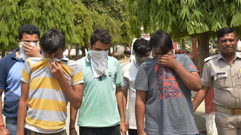 The accused were arrested from a flat in Vrindavan Green Apartments in Sahibabad.