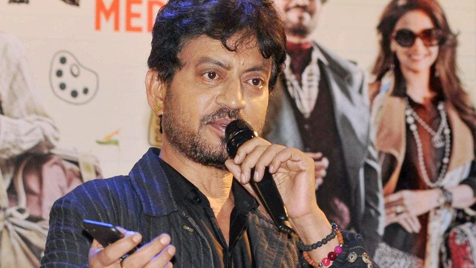 Irrfan Khan during the promotion of his upcoming movie Hindi Medium in Kolkata.