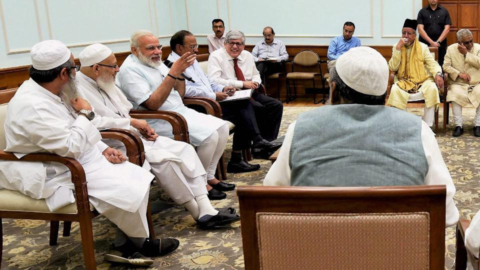 PM Modi,Narendra Modi,Muslim leaders-Modi meeting