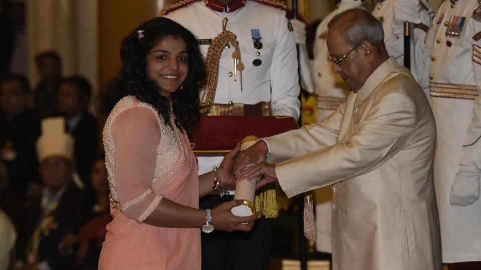 Olympic bronze medallistSakshi Malik received India's fourth highest civilian honour, the Padma Shri in April.