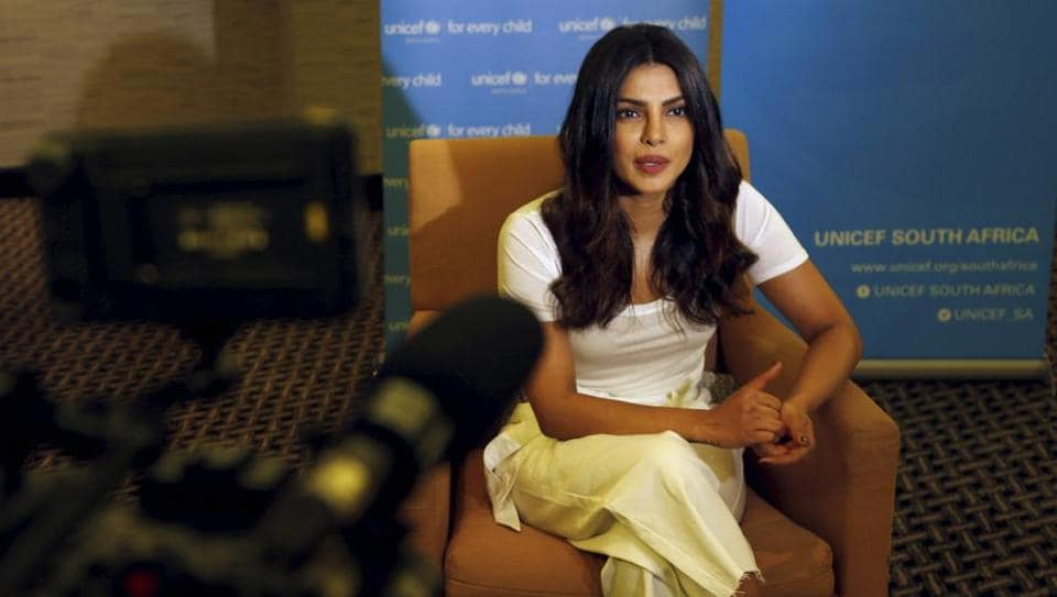 Priyanka Chopra is photographed during an interview with the Associated Press in Johannesburg, Saturday, May 6, 2017.