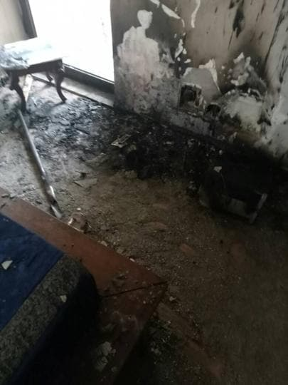 Though the fire was put out before it could spread, the flat on the 17th floor suffered significant damage.