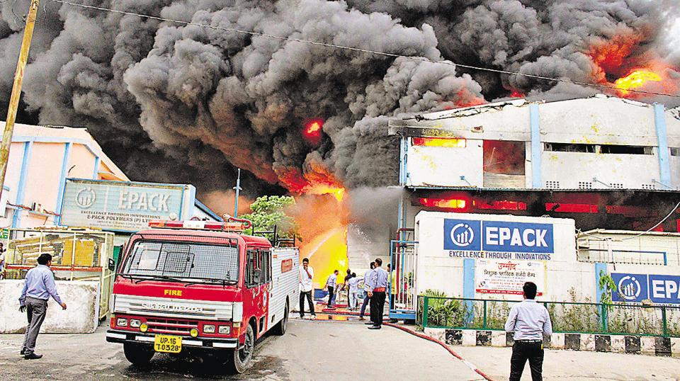 Large quantities of thermocol stored in the factory made it very difficult to put out the fire, but it was brought under control by 9pm, the fire safety officer said.