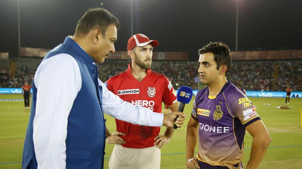 Kolkata Knight Riders captain Gautam Gambhir won the toss and opted to field against Kings XI Punjab in Mohali on Tuesday. (BCCI)