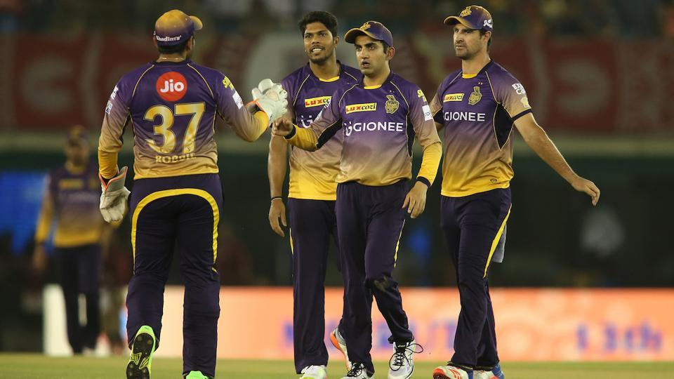 Kolkata Knight Riders started on a good note by removing the Kings XI Punjab openers early on. (BCCI)