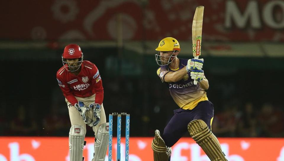 Chris Lynn's brilliant knock of 84 went in vain as Kolkata Knight Riders lost to Kings XI Punjab by 14 runs in the Indian Premier League in Mohali on Tuesday night.