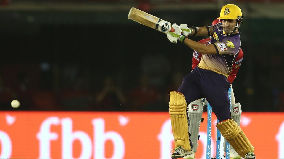 Kolkata Knight Riders captain Gautam Gambhir also could not contribute with the bat as he only made 8 before departing. (BCCI)