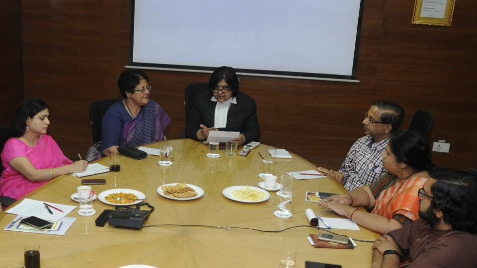 Panellists discuss online activities amongst children at Hindustan Times in Lucknow on Wednesday.