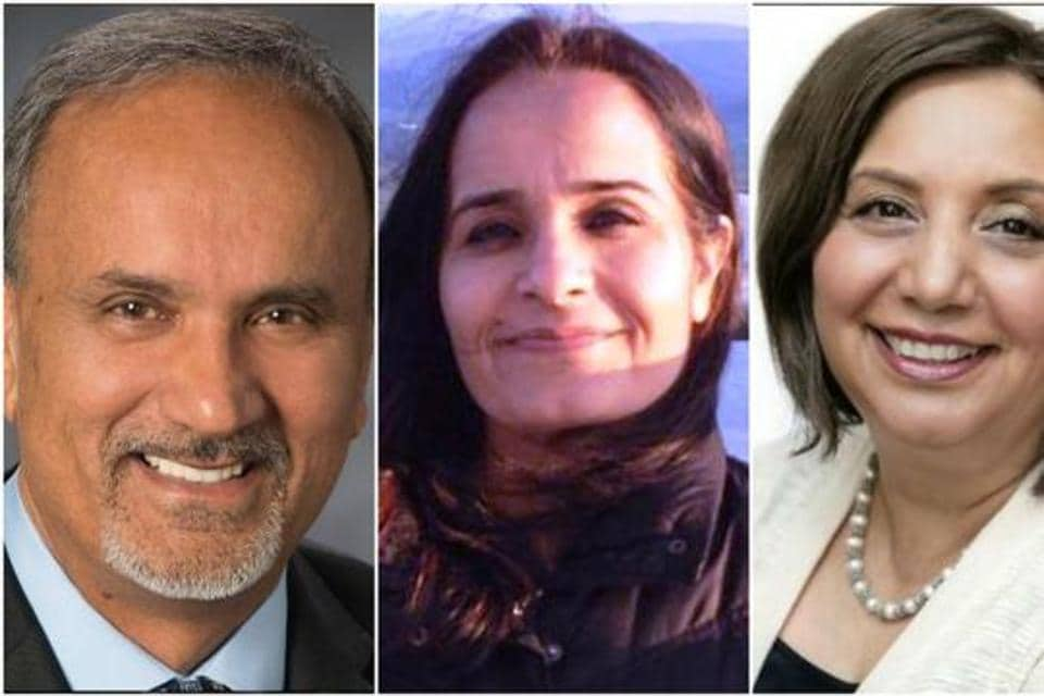 From left: Hary Bains, Rachna Singh, and Jimmy Sinms