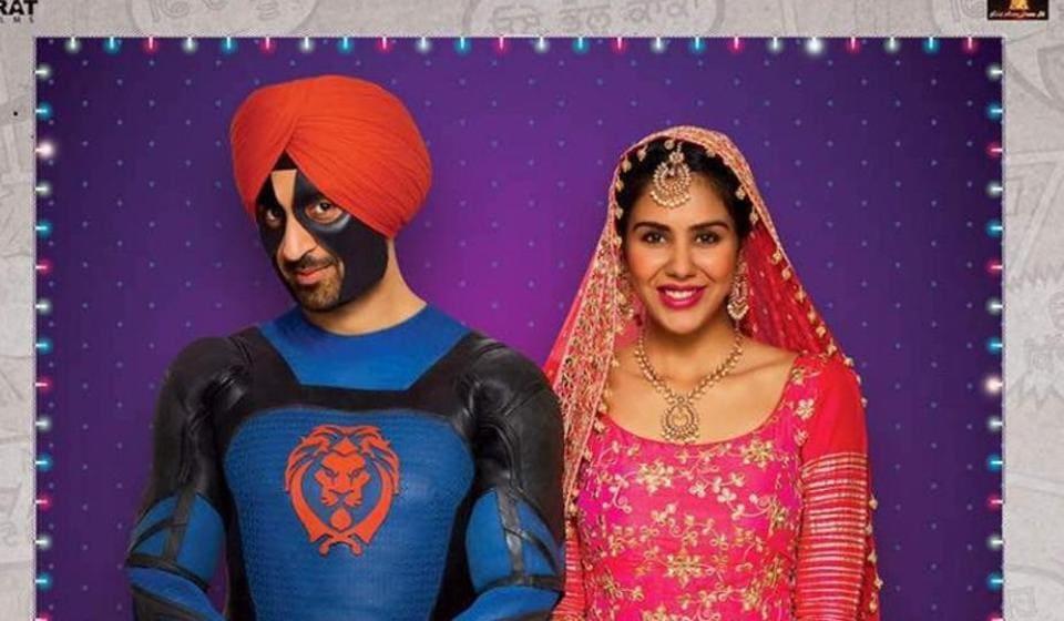 The poster for Diljit Dosanjh stareer Super Singh.