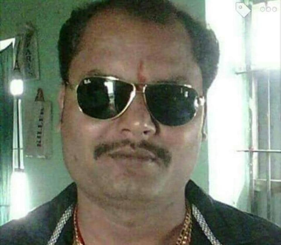 Gangster Babloo Dubey, who was shot dead on court premises at Bettiah in Bihar's West Champaran district.