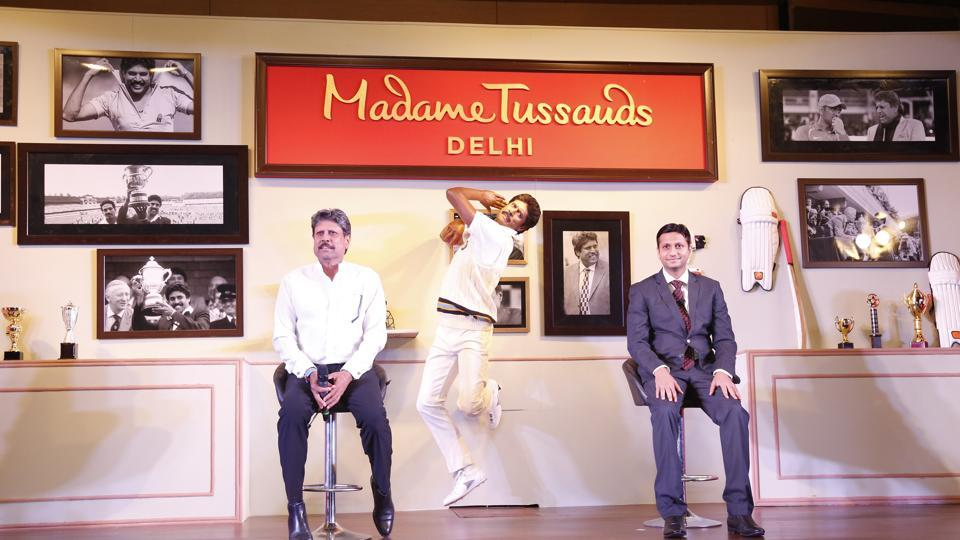 Former India captain Kapil Dev unveiled his own wax statue at Madame Tussauds in New Delhi on Thursday.