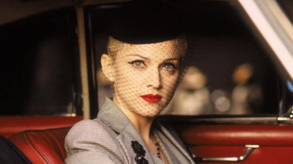 Madonna in a still from Evita.