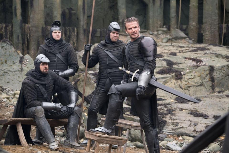 David Beckham,Guy Ritchie,Charlie Hunnam