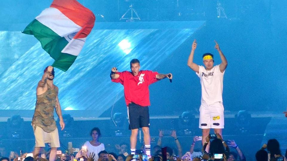 Justin Bieber's Purpose World Tour in Mumbai on May 10 was a hit with Bollywood.