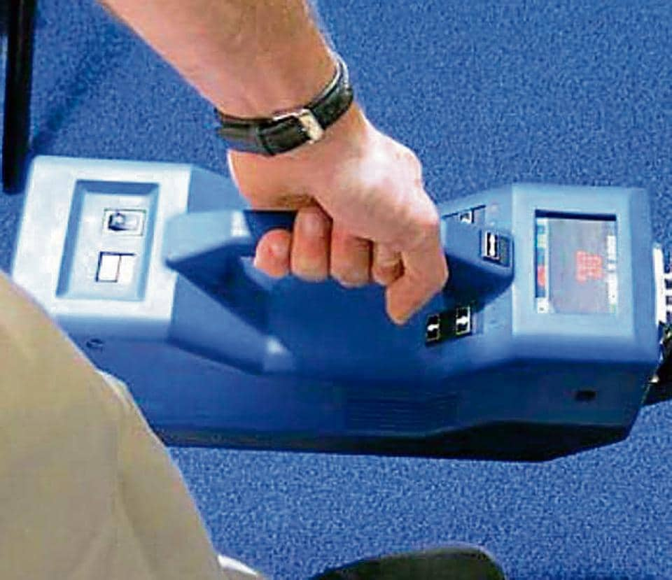 The I-scan equipment, which has the ability to detect traces of explosives and narcotics.