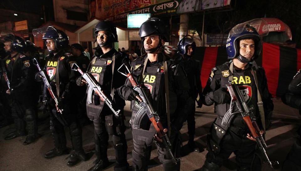 Representative Image: Police raided the house in Habashpur village in Rajshahi district after receiving a tip-off that members of the outlawed Jamayetul Mujahideen Bangladesh (JMB) Islamist group were holed up there.