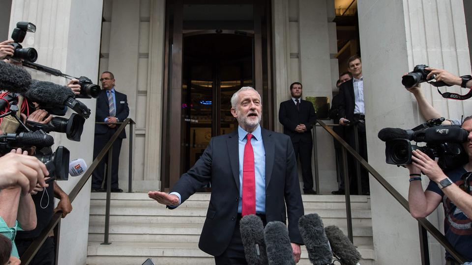 Britain's opposition Labour party leader Jeremy Corby.