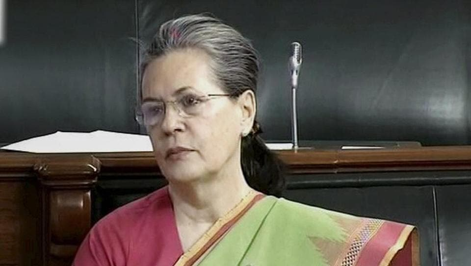 Congress President Sonia Gandhi in the Lok Sabha in New Delhi. She has a history of asthma and is usually under the care of chest specialist.
