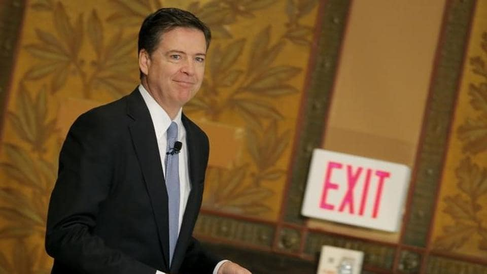Former FBI director James Comey who was fired by President Donald Trump.