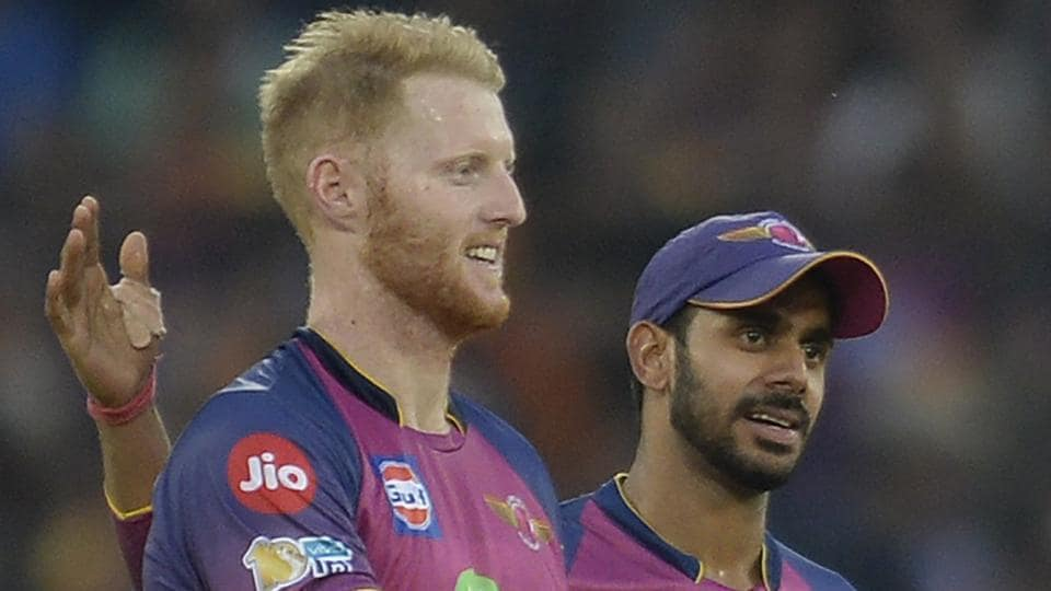 Rising Pune Supergiants all-rounder Ben Stokes (L) is one of the mainstays of the England cricket team.