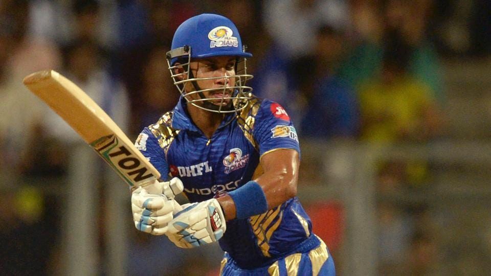 Mumbai Indians' Lendl Simmons in action against Kings XI Punjab in an Indian Premier League (IPL) 2017 match.