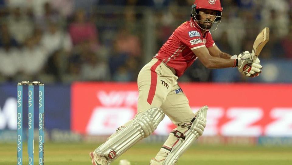 Wriddhiman Saha en route to scoring his half-century for Kings XI Punjab against Mumbai Indians in an Indian Premier League (IPL) 2017 match.
