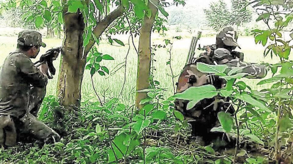 The skirmish took place on Thursday morning when a team of the 171st battalion of BSF was out on a road security operation in  the Bande police station area.