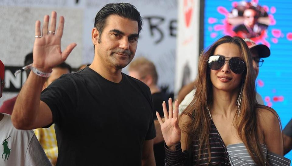 Arbaaz Khan and Malaika Arora Khan arrive to attend Justin Bieber's concert on Wednesday, a day before they divorced.