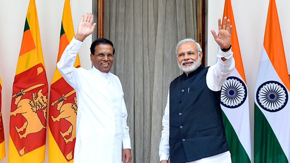 Prime Minister Narendra Modi with Sri Lankan President Maithripala Sirisena during a meeting in New Delhi.
