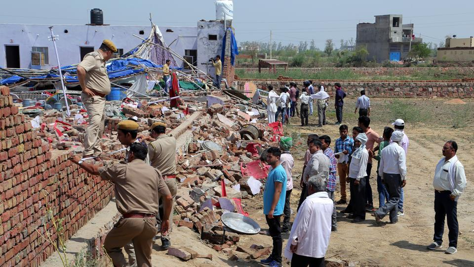 Bharatpur wall collapse