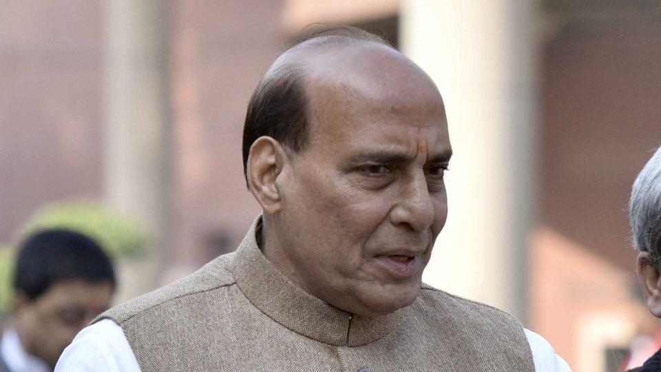 File photo of Home Minister Rajnath Singh who launched a mobile phone app for paramilitary forces which will enable them to enable them to seek redressal of their grievances