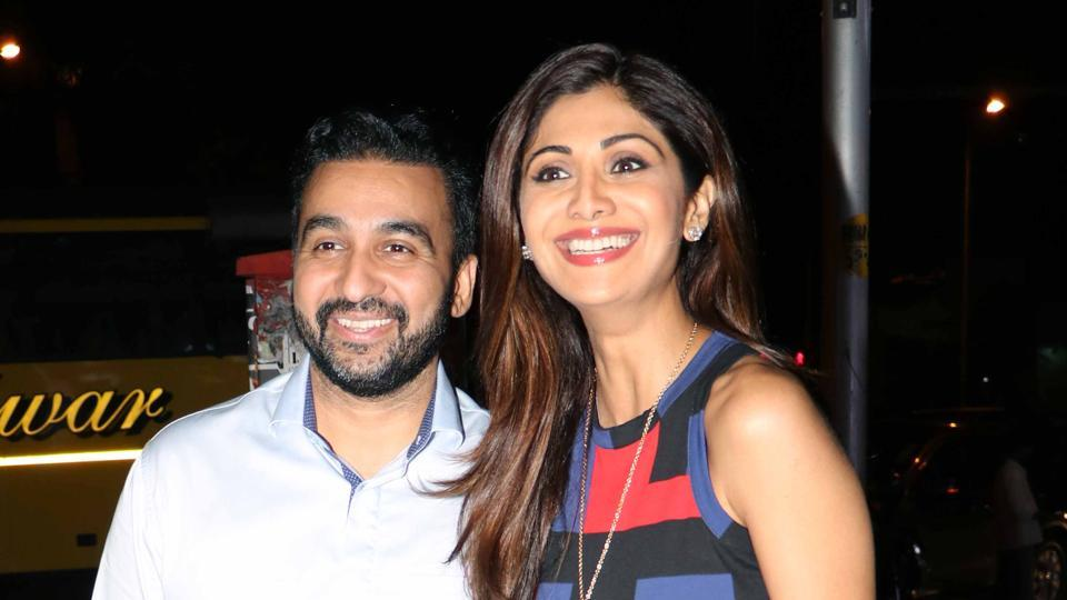 Shilpa Shetty with Raj Kundra.