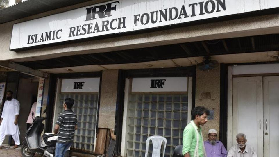Office of Muslim preacher Zakir Naik's NGO, the Islamic Research Foundation (IRF), at Dongri in Mumbai.