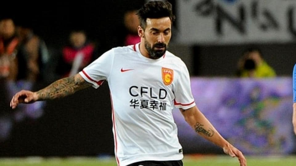 Ezequiel Lavezzi earns a mammoth £798,000 per week for Chinese Super League side Hebei China Fortune.