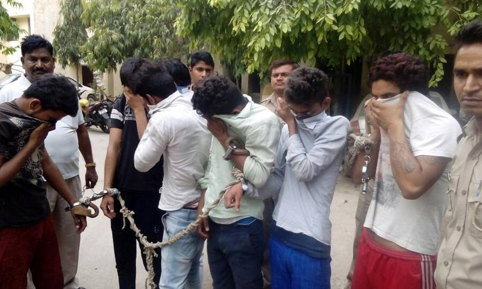 The police arrested a total of seven men and three women under The Immoral Traffic Prevention Act, 1956 and charged them with running a racket from a rented apartment.